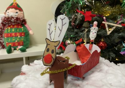 child Christmas creation